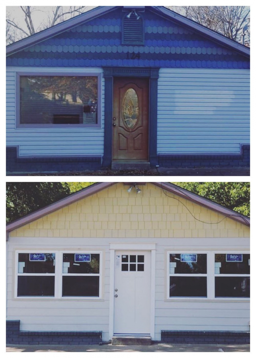 before and after home renovation