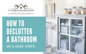 declutter a bathroom, organize, organization, home advice, master bathroom